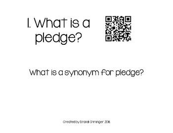 Pledge of Allegiance Vocabulary Scoot