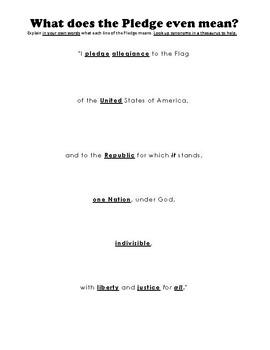 Pledge of Allegiance - What does it mean? Analysis of U.S. Pledge of Allegiance