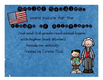 Pledge of Allegiance Word Puzzle