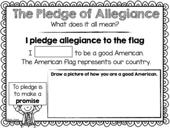 Pledge of Allegiance Workbook