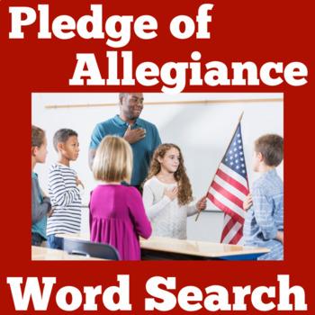 Pledge Of Allegiance Worksheet Teachers Pay Teachers