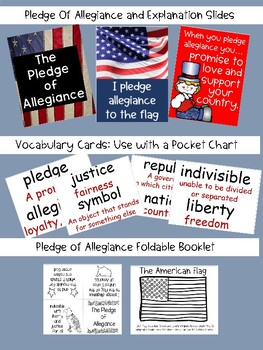 Pledge of Allegiance and Classroom Pledge: Teaching Slide Show and Materials