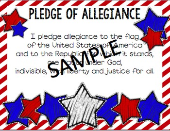 Pledge of Allegiance and National Anthem Pack
