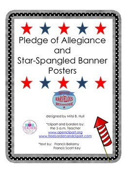 Pledge of Allegiance and National Anthem posters
