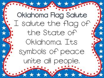 Pledge of Allegiance and Oklahoma Flag Salute