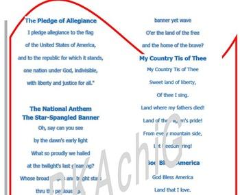 Pledge of Allegiance and Patriotic Songs