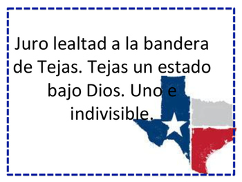 photograph about Pledge of Allegiance in Spanish Printable named Pledge of Allegiance and Texas Country Pledge in just Spanish