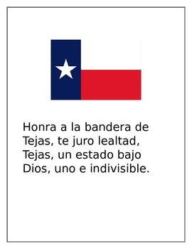 graphic regarding Pledge of Allegiance in Spanish Printable identified as Pledge of Allegiance and Texas inside of spanish