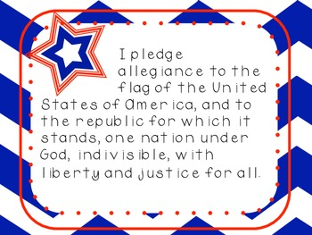 Pledge of Allegiance in English and Spanish