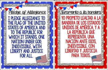 Hilaire image inside pledge of allegiance in spanish printable
