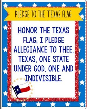 Pledge of Allegiance in English and Spanish (Pledge to Texas Flag)