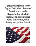 Pledge of Allegiance in English Poster