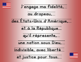 Pledge of Allegiance in French