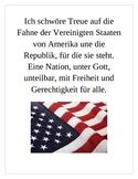 Pledge of Allegiance in German Poster
