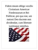 Pledge of Allegiance in Latin Poster