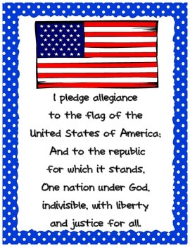 Pledge of Allegiance in English and Spanish for DLE classroom