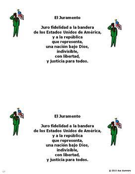 Pledge of Allegiance in Spanish - El Juramento