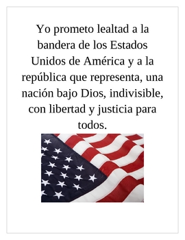 photograph regarding Pledge of Allegiance in Spanish Printable identify Pledge Of Allegiance Spanish Worksheets Schooling Products