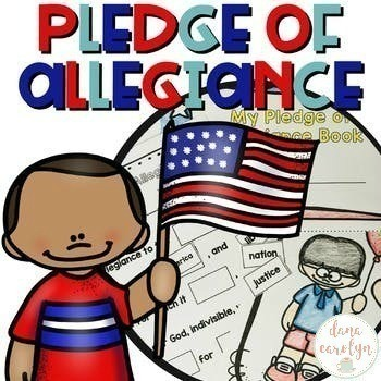 Pledge of Allegiance to the American Flag Pack {ELA and Social Studies}