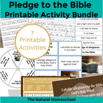 photo regarding Pledge to the Bible Printable named Pledge of Allegiance towards the Bible Printable Deal ~ 7 Actions
