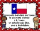 Pledge of Allegiance to the Texas Flag Bilingual Posters Freebie