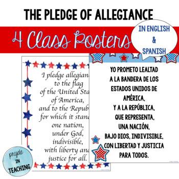 Pledge of Allegiance in English & Spanish
