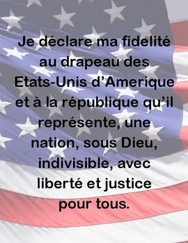 Pledge of Allegience in FRENCH