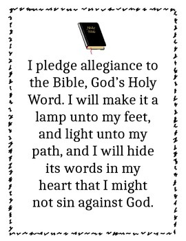 Pledge to the BIble