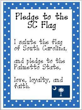 Pledge to the South Carolina Flag