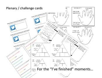 """Plenary or """"I've finished""""-challenge cards"""