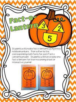 Plenty Of Pumpkins Math Centers and Interactive Journal Pages