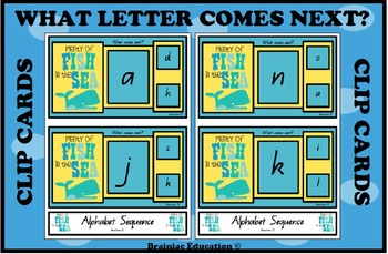 Plenty of Fish in the Sea Alphabet Sequence Cards