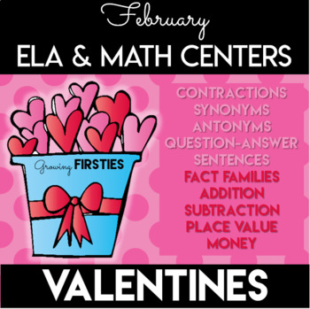 Plenty of Love - Valentines Math & Literacy Centers - Common Core