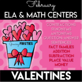 February Valentines Math & Literacy Centers - Common Core