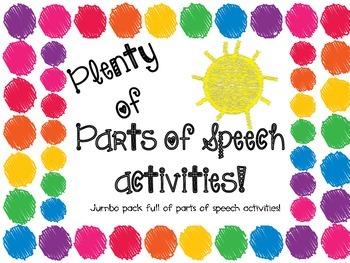 Plenty of Parts of Speech Activities
