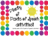 Plenty of Parts of Speech Activities