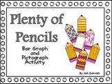 Plenty of Pencils Bar Graph and Pictograph Activity
