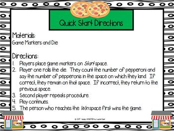 Plenty of Pizza Parlors:  NO PREP Community Themed Counting Board Game