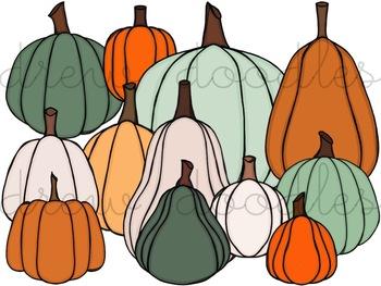 Plenty of Pumpkins Digital Clip Art Set