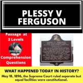 Plessy v Ferguson Differentiated Reading Passage May 18