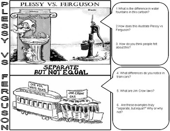 Plessy vs Ferguson Cartoon Analysis