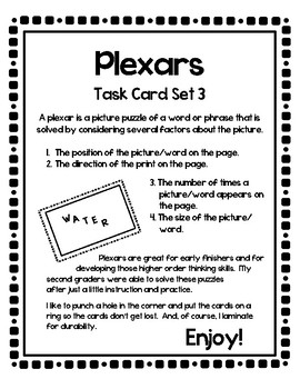 Plexar Higher Order Thinking Puzzles - Set 3