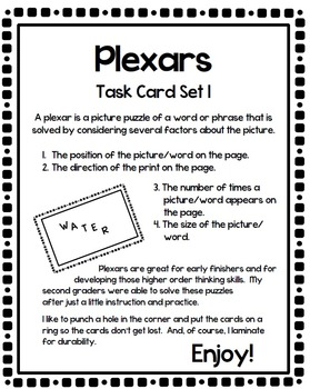 Plexar Higher Order Thinking Puzzles - Sample set