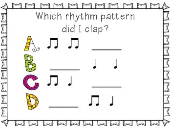 Plickers Assessment for half note preparation {freebie}