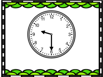 Plickers Pictures:  Telling Time to the Hour & Half Hour (Clocks)