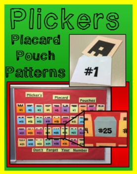 Plickers Placard Pouch Pattern - Makes 40 Pouches to fit Standard Sized Placards