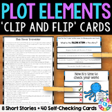 Plot Structure Activity: Plot Elements Task Cards with 8 Short Stories
