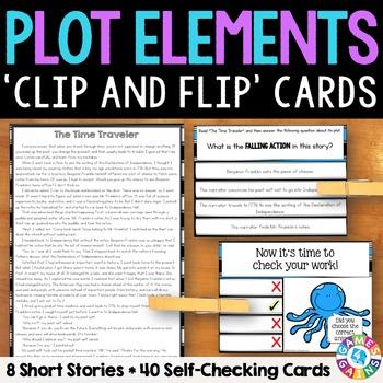 Plot Activity: 40 Plot Elements Task Cards with 8 Short St