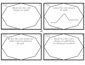 Plot 6 Stages of Plot Task Cards