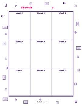 Lesson Planning Calendar Grid 9 weeks FREE